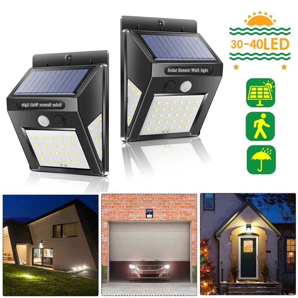 30/40 LED Solar Light Outdoor Solar Lamp PIR Motion Sensor Wall Light Waterproof Solar Powered Sunlight For Garden Decoration