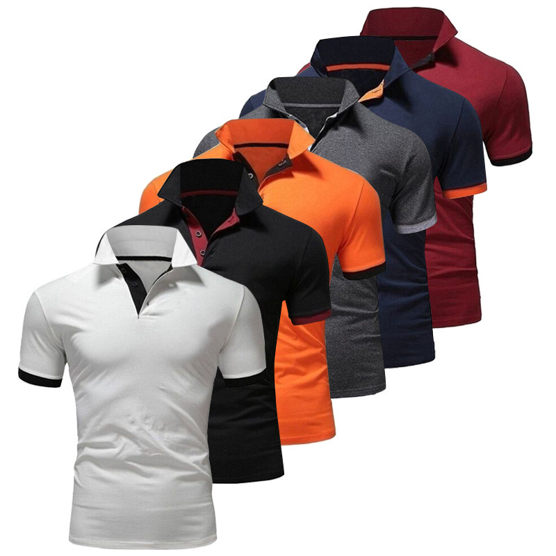 2019 Summer New Polo Shirts Men Short Sleeve Polo shirts Pure Color Tops Men Fashion Casual Clothes Breathable quick dry S-2XL