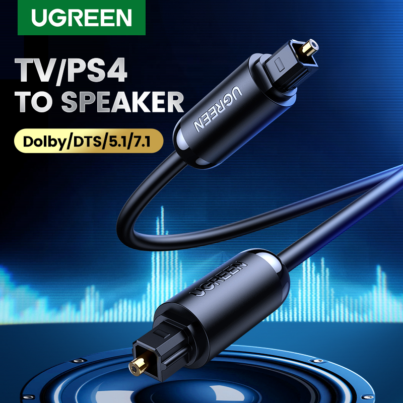 Ugreen цифровой оптический аудио кабель типа toslink позолоченный 1 м 2 м 3 м spdif коаксиальный кабель для blu-ray cd dvd плеер xbox 360 ps3 av tv