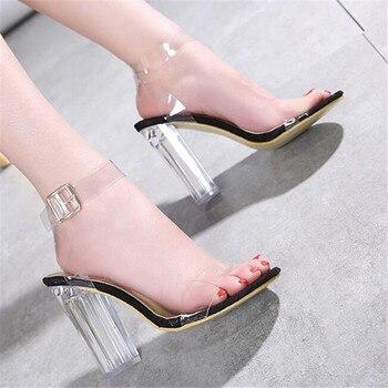 2019 sexy tacones altos transparentes zapatos de mujer zapatos de fiesta de...