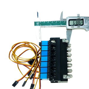 Image 4 - 7CH Directional Valve Hydraulic Oil Valve Controller With Servo for 1/12 RC Excavator Bulldozer Parts