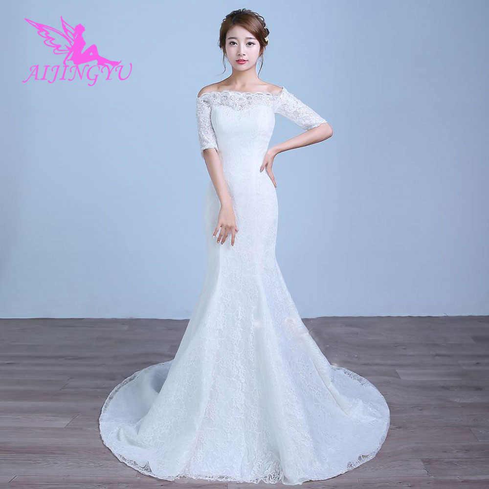 aijingyu kleid kristall kleider amerika romantische braut whites königin  2021 günstige wunderschöne hochzeit kleider