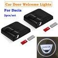 1/2 шт. Беспроводной двери автомобиля Led Добро пожаловать лазерный проектор логотип тень светильник для Dacia Duster Logan Sandero и многое другое Dokker Lodgy