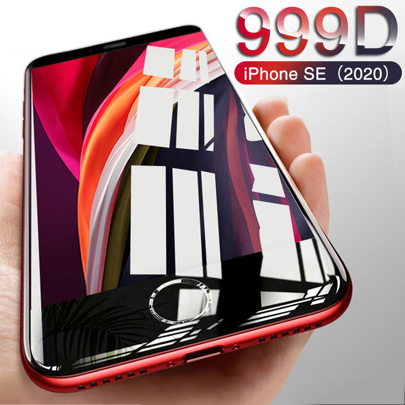 999D New Glass For IPhone SE 2020 Screen Protector For IPhone 11 Pro X XR XS MAX 6 6S 7 8 Plus Tempered Glass On Iphone SE 2020