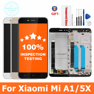 Image 1 - 100% Tested For Xiaomi Mi A1 LCD Display + Frame 10 Touch Screen Panel For Xiaomi A1 LCD Digitizer Assembly Replacement Parts