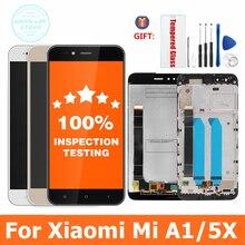 100% getestet Für Xiaomi Mi A1 LCD Display + Rahmen 10 Touch Screen Panel Für Xiaomi A1 LCD Digitizer Montage ersatz Teile
