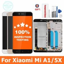 100% testowane dla Xiaomi Mi A1 wyświetlacz LCD + rama 10 ekran dotykowy Panel dla Xiaomi A1 LCD Digitizer zgromadzenie części zamienne
