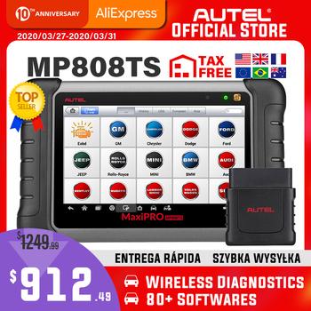 Autel MaxiPRO MP808TS OBDII samochodowe samochodowe narzędzie diagnostyczne skaner OBD2 OBD 2 czytnik kodów funkcje TPMS PK AP200 MK808 MK808TS tanie i dobre opinie PK MK808TS 15cm 50cm 600 mA Plastic Silnik analyzer Wifi Bluetooth 5 V 1 5 A 30cm Multimeters Analyzers AndroidTM 4 4 2 KitKat