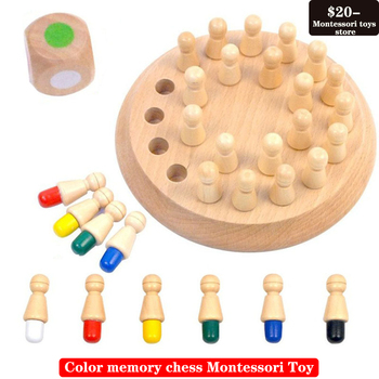 цена на Table game color memory chess wooden children's toys memory development parent-child interactive game Montessori Toy