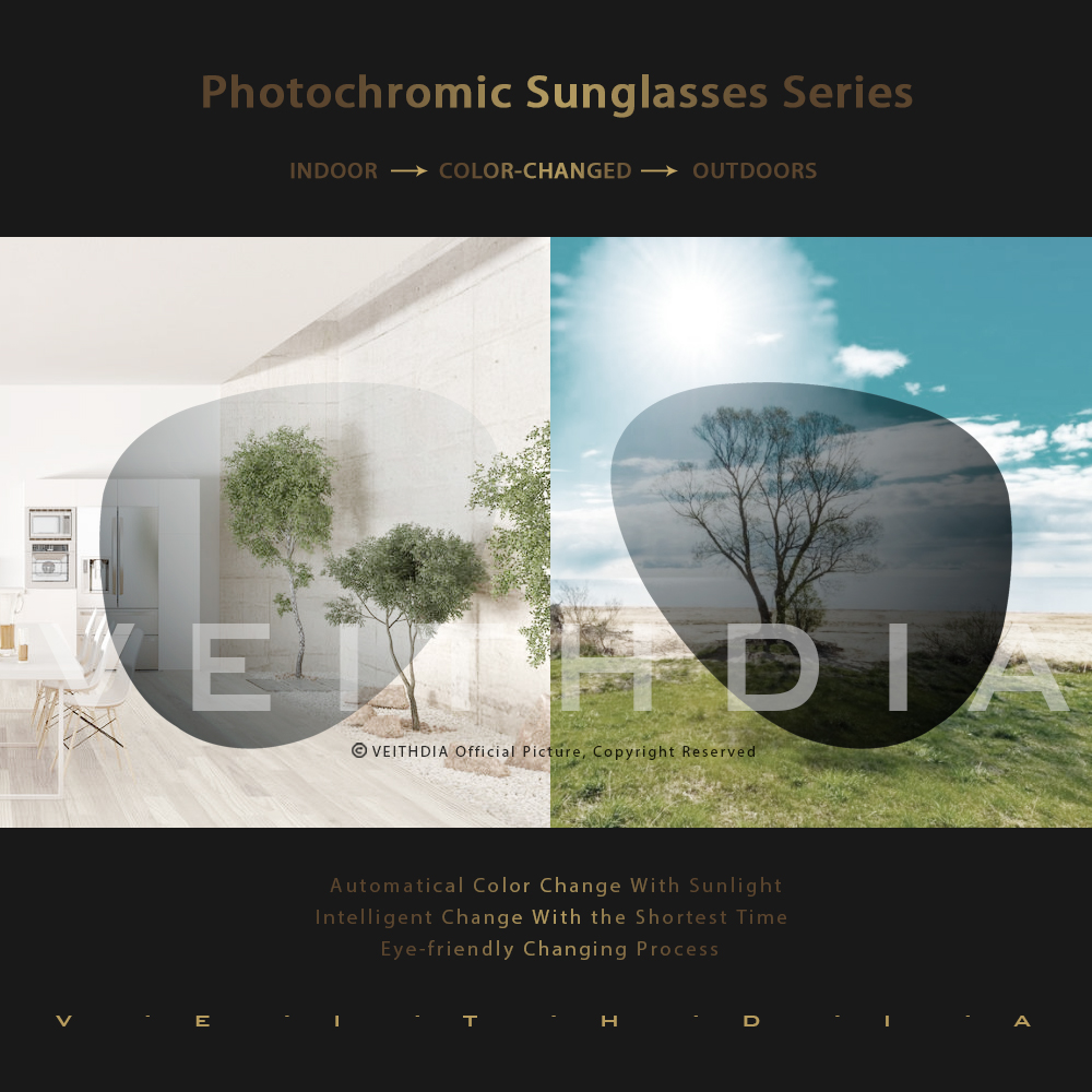 VEITHDIA Brand Unisex Aluminum+TR90 Men's Photochromic Mirror Sun Glasses Eyewear Accessories Sunglasses For Women 6116 4
