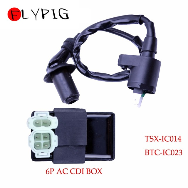 Ignition Coil 6Pin AC CDI Box for Honda XR CRF TRX 50 70 125 250 300cc Engine Motorcycle Dirt Bike ATV Moped Scooter Go Kart @20