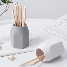 Soporte creativo de silicona para bolígrafos, estuche de almacenamiento para escritorio, organizador de oficina, conjunto de papelería, regalos para estudiantes