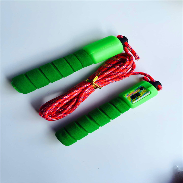 Children Jump Rope 2.6 M Adjustable Length Sponge Handle Strap Count Feature Ground Promotion Hot Sales