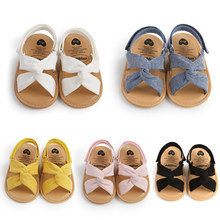 2021 New Cloth Cover Soft Sole Baby Sandals Cute Solid Toddlers Summer Shoes For Girls Boys 0-18M Crib shoes Newborns sandales