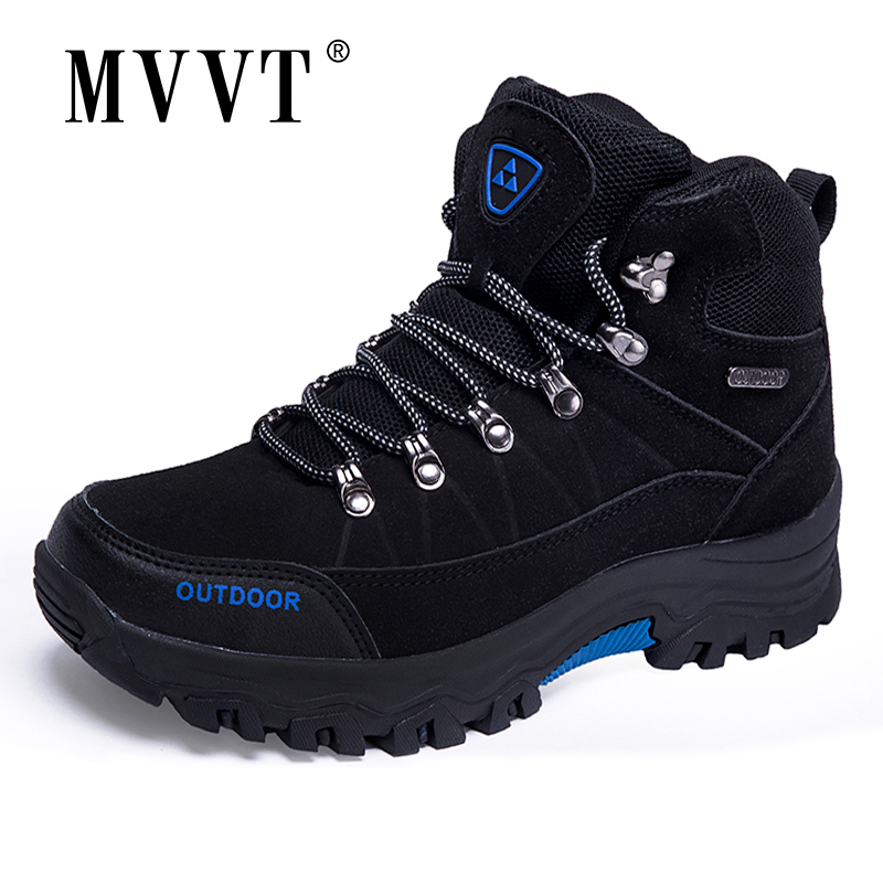 2019 Super Warm Men Winter Boots Suede Leather Men Boots Fur Plush Snow Boots Winter Shoes For Men Outdoor Boots Shoes Plus Size