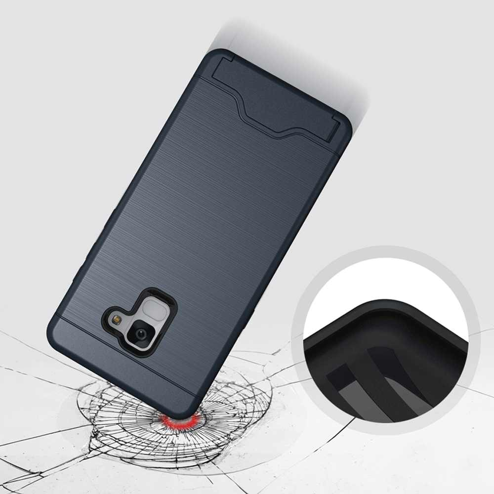 Portefeuille hybride brossé porte-carte béquille étui pour Samsung Galaxy A7 A5 A3 2017 S10 S9 S8 Note 10 Plus 5G S7 Edge A8 Plus 2018