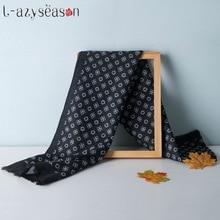 Мужской шарф, роскошный брендовый дизайнерский мужской классический кашемировый шарф, зимний теплый мягкий модный женский шарф с кисточками, Новинка