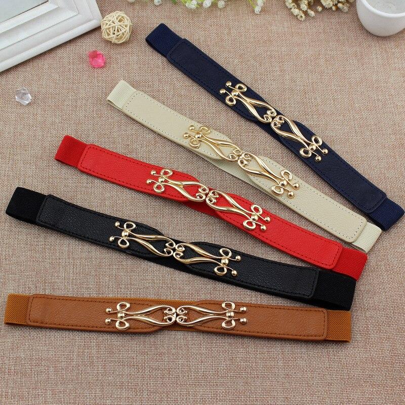 Fashion Women Elastic Dress Belts 60cm Long Waist Belt Dress Adornment For Women Waistband Cummerbunds Wide Corset Belt