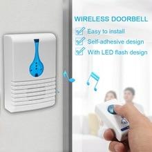 Wireless Doorbell Digital Cordless Door Bell 100M Sensing Range With Self-adhesi
