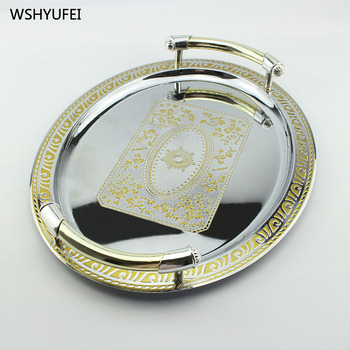 Direct sales of new high-grade gold is not easy to break Western food hotel cake bakery jewelry special pattern display tray