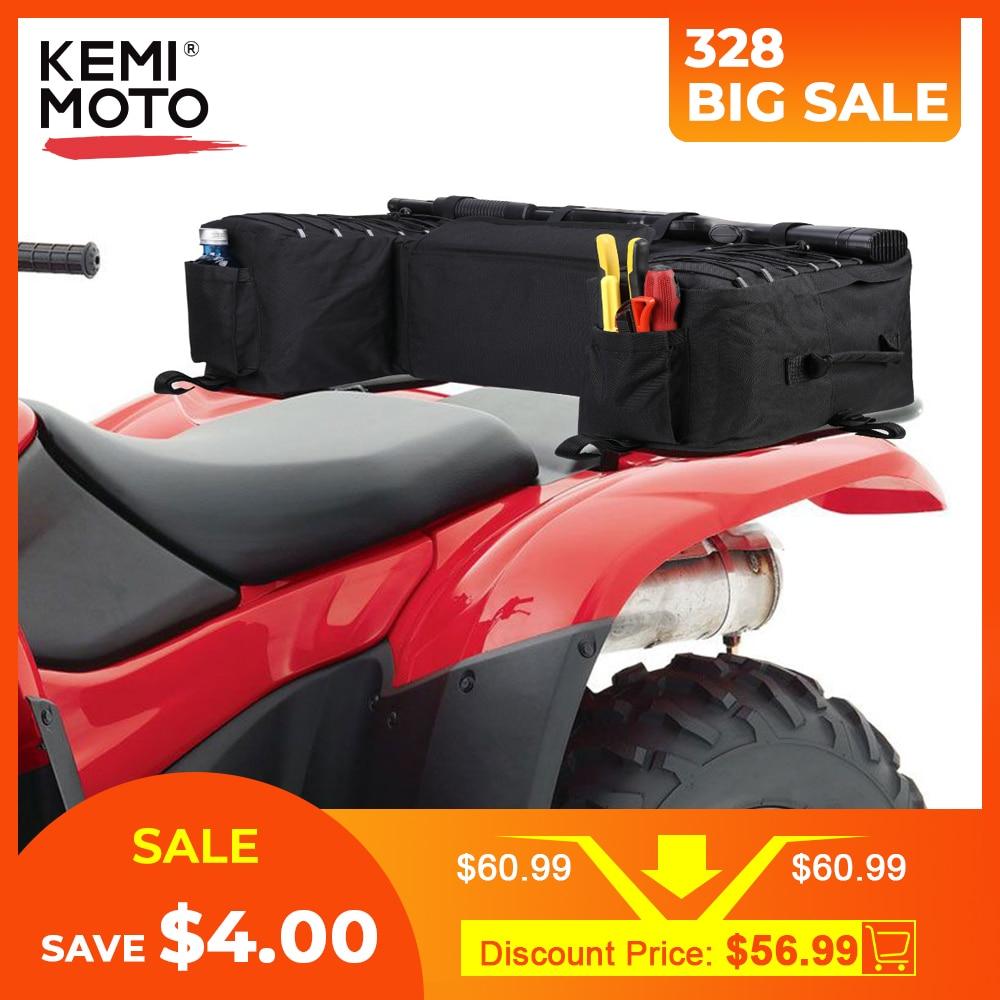 Black Rear Rack Bag Package Support Storage Pack Back ATV For Yamaha Big Bear 400 For Polaris 300 For Can-Am Outlander 400