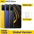 Смартфон глобальная версия POCO M3 4 Гб 64 Гб/128 ГБ Восьмиядерный Snapdragon 662 6,53