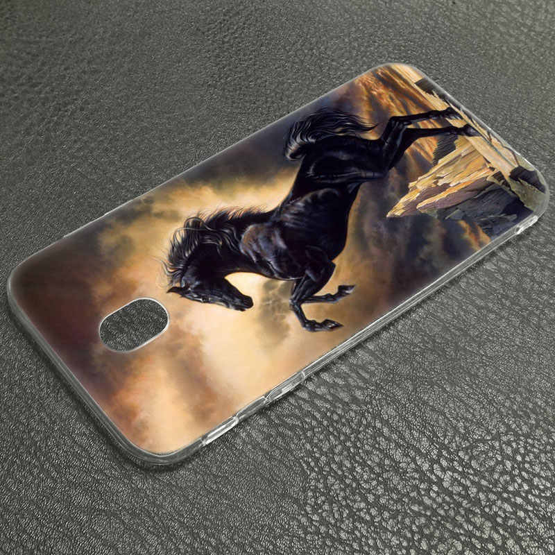 Capa de Silicone Hot Grande Belos Cavalos Correndo para Samsung Galaxy J8 J7 J6 J4 J2 2018 Núcleo J3 2016 J5 2017 UE J4 Plus J7 Prime