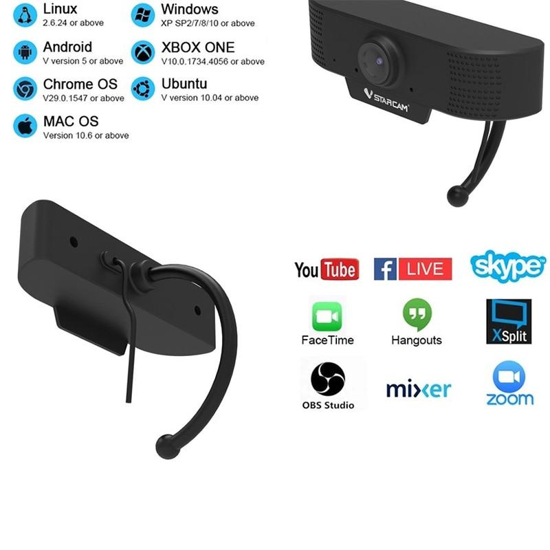 Vstarcam портативная Wi-Fi сетевая Удаленная камера высокой четкости для видеоконференций камера для видеоконференций видеомонитор