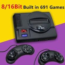 8Bit 16Bit Familie Hd Tv Retro Handheld Game Dual Spelers Hd Video Game Console Ingebouwde 691 Klassieke Games voor Sega Mega Drive