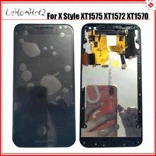 ل موتورولا موتو X نمط XT1575 XT1572 XT1570 شاشة الكريستال السائل مجموعة المحولات الرقمية لشاشة تعمل بلمس ل موتو X طبعة نقية LCD