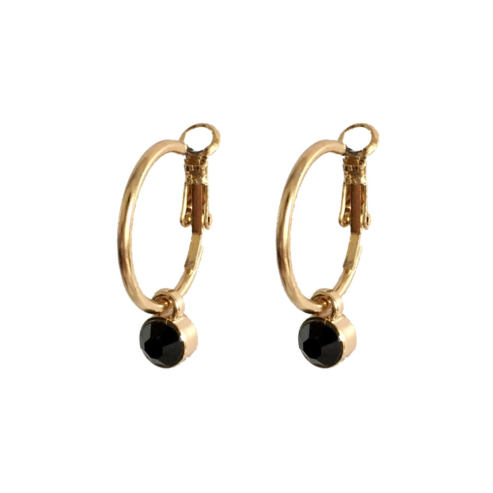 Sexy Earring Accessories Small Gold Color Hoop Earrings  Fashion 5 Color Acrylic Stone Pendant Earrings