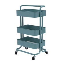Kitchen Trolley 3 Layers Office Cart Rolling Storage Rack Workshop Trolley With Four Wheels Portable Tool Storage Cart