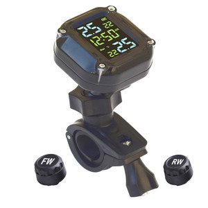 Image 4 - 2021 USB Solar Charging Motorcycle TPMS Motor Tire Pressure Tyre Temperature Monitoring Alarm System with 2 External Sensors