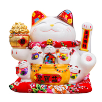 Oversized Piggy Bank Lucky Cat Opening Feng Shui Ornaments Home Decor Accessories Business Crafts Treasure Bowl Figurine Statues