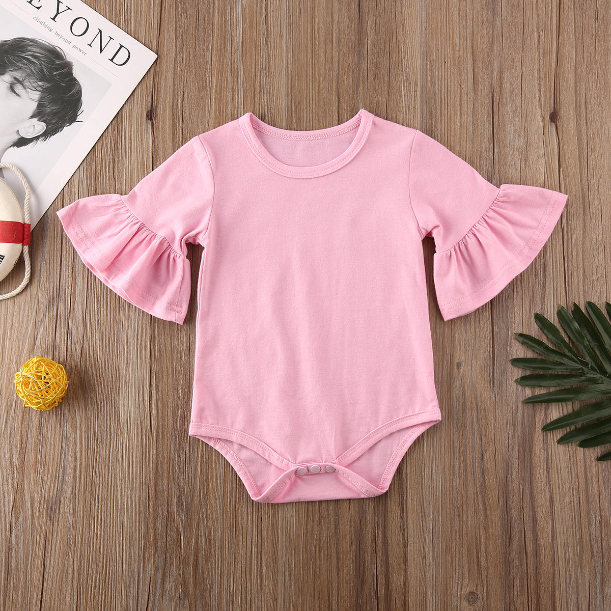 Toddler Baby Girls Off Shoulder Bodysuit Ruffle Bowknot Belt Romper Flare Bell Sleeve Jumpsuit Wide Leg Pants Shorts Outfits