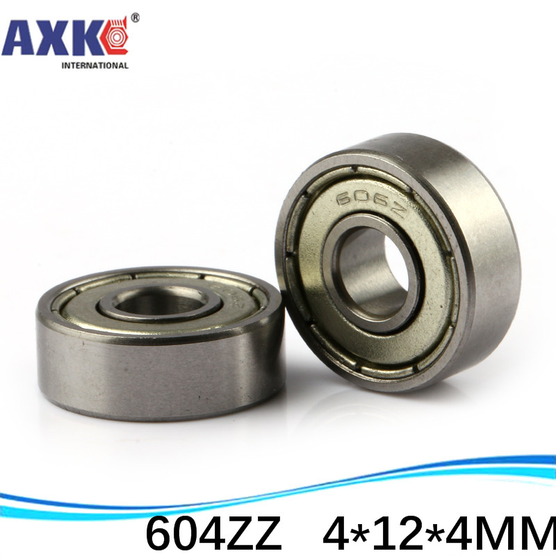 (1pcs) Double Shielded Miniature Deep Groove Ball Bearings <font><b>604ZZ</b></font> 604-2RS S604ZZ S604-2RS 4*12*4 mm image