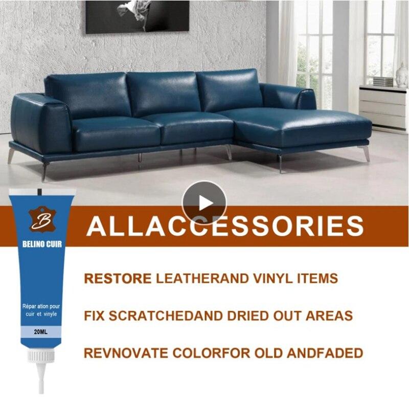 1 Pc 20ml Leather Repair Gel Color Repair Home Car Seat Leather Complementary Repair Refurbishing Cream Paste Leather Cleaner