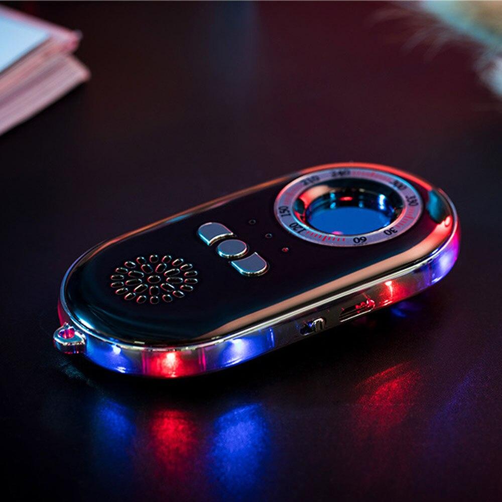 Portable Mini Signal Detector Sensor Anti Hidden Camcorder Finder With Flashlight Warning Alarm For Travel Hostel Guesthouse