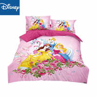 Disney cheaper bedding set for children bed decor single size duvet covers twin flat sheet 3pcs princess free shipping promotion