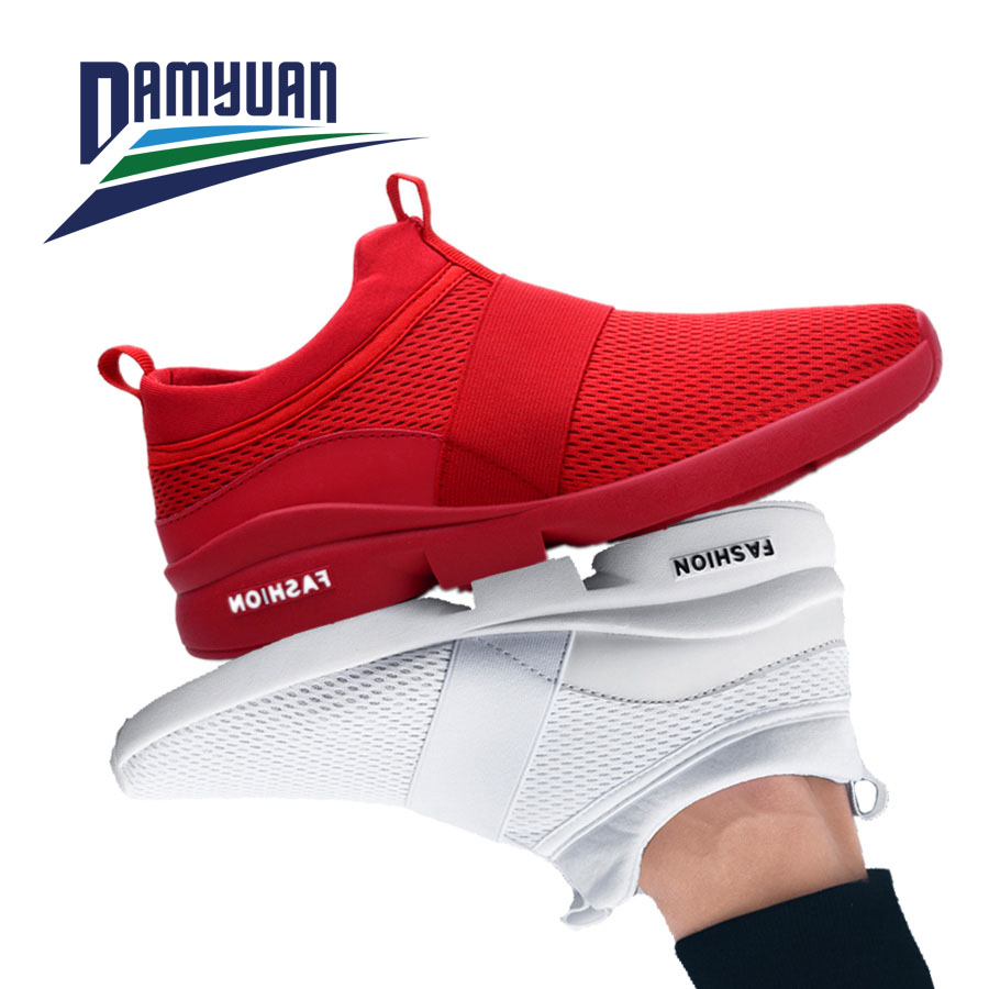 Damyuan 2020 New Fashion Men Women Flyweather Comfortable Breathable Non-leather Casual Light Size 46 Sport Mesh Jogging Shoes