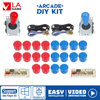 Zero Delay Arcade Diy Kit Zero Delay Usb Controller Pc Copy Sanwa Oval Ball Joysticks For Pc Rasberry Pi Ps3 For Pandora Game