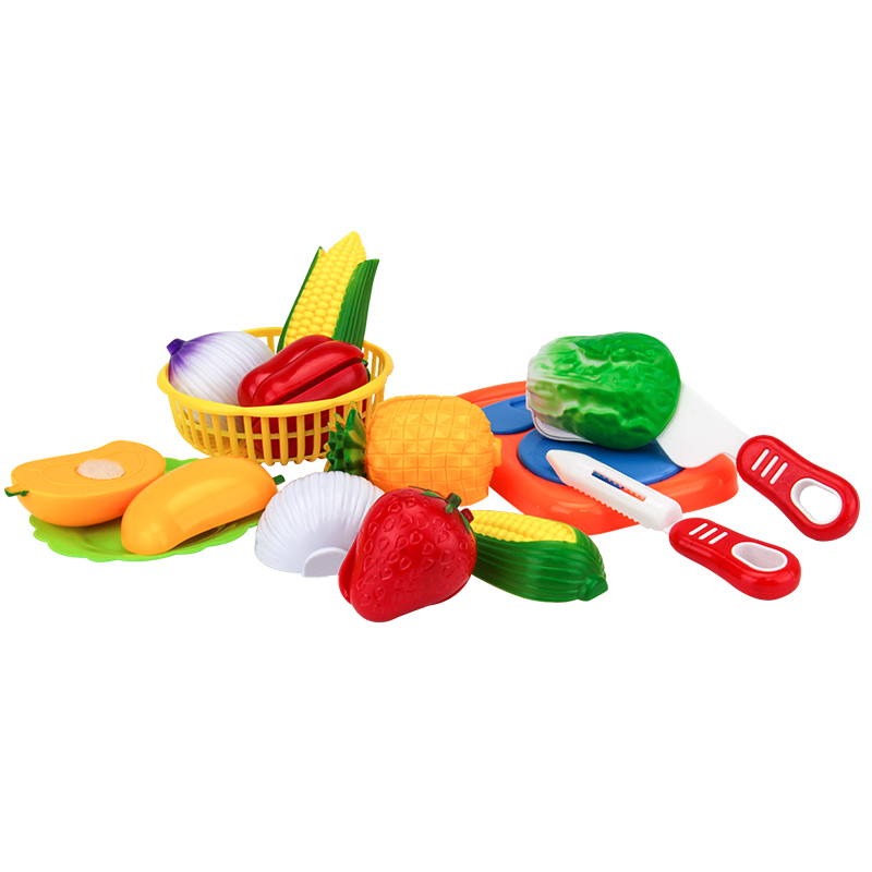 Kitchen Toys 12PCS Cutting Food Fruit Vegetable Pretend Play Toy Plastic Educational Gift For Baby Kids