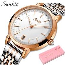 SUNKTA Rose Gold Watch Women Watches Lux