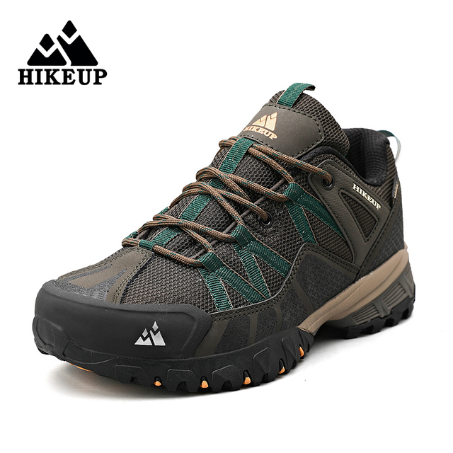 HIKEUP 2020 Summer Men Hiking Shoes Mesh Fabric Mountain Climbing Shoes Outdoor Trekking Sneakers Fishing Hunting Boots For Men 1