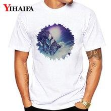 Fashion Summer T-Shirt Mens Womens Space Galaxy 3D Print Funny Graphic Tees Men Casual Short Sleeve White Tee Shirts Tops цена