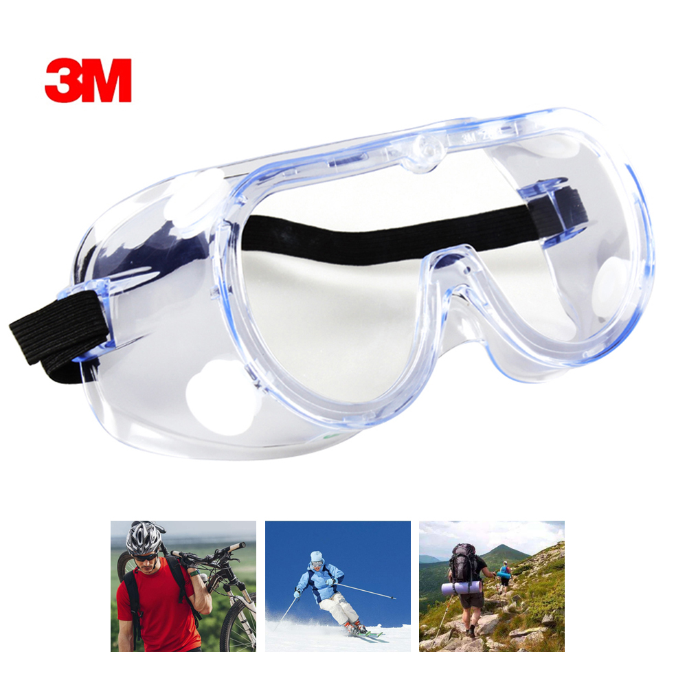 3M Original Protective Goggle 1621 AF Clear Anti-Fog Lens Anti-Splash
