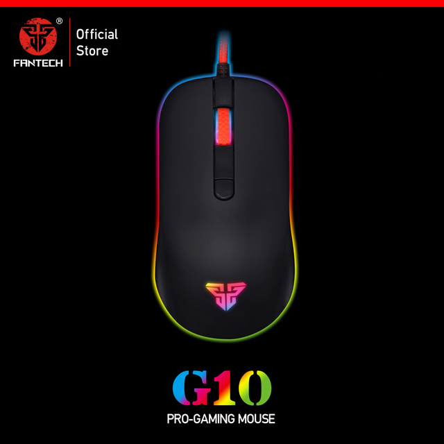 FANTECH G10 Professional Gmae Cable Mouse Adjustable 4800 DPI RGB 4 Button Optical mouse gaming for PC Notebook Game mice