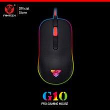 Fantech G10 プロgmaeケーブルマウス調節可能な 4800 dpi rgb 4 ボタン光学式マウスゲーミングマウスノートpc用ゲームマウス