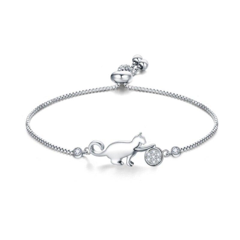 Bracelet Zircon Chat