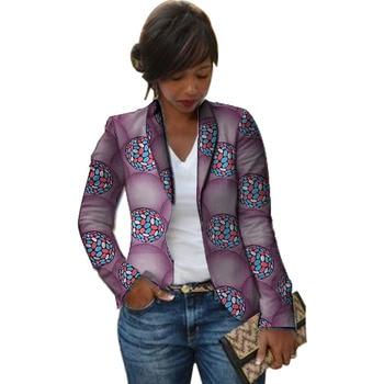 Women African blazers traditional female Dashiki print blazer for ladies custom made Ankara outfit womens suit jacket